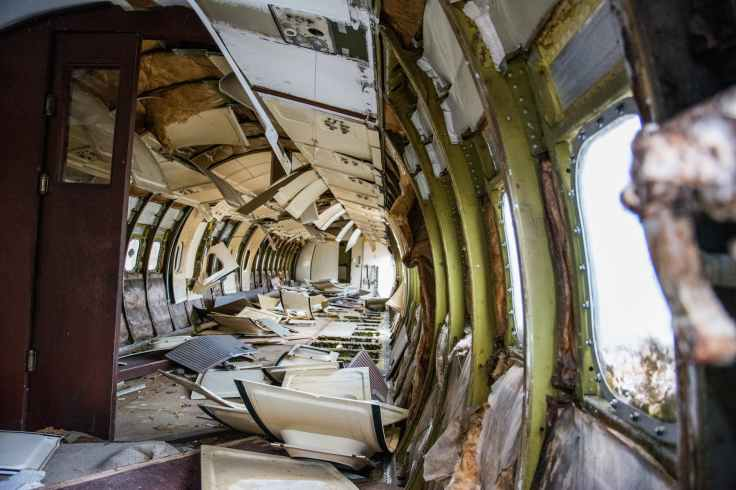 broken airplane plane old